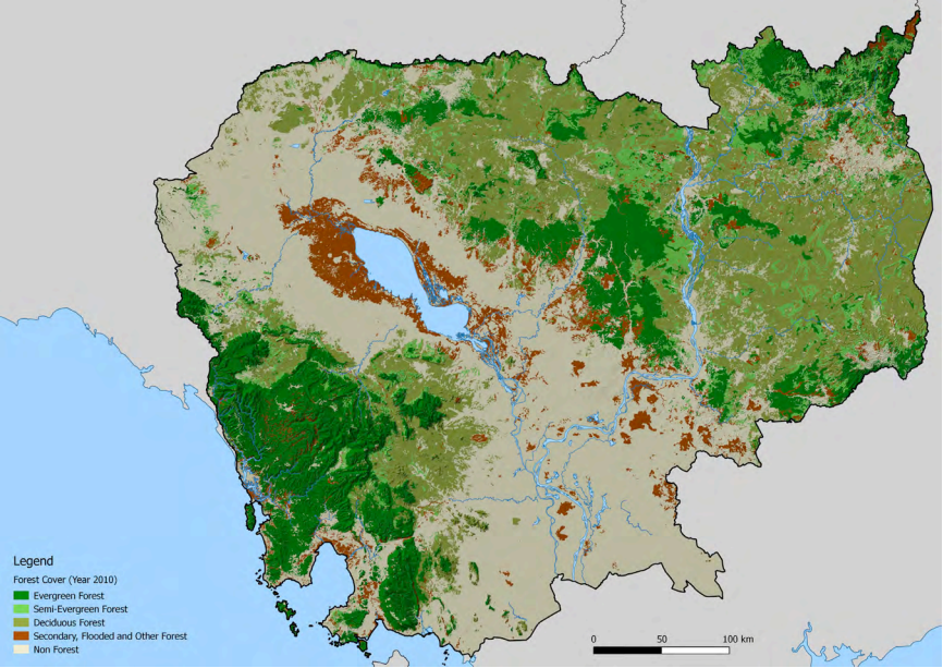 ForestCoverCambodia2010