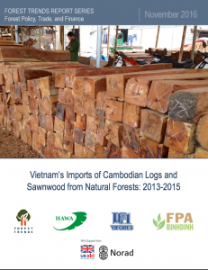 November 2016 Vietnam S Imports Of Cambodian Logs And